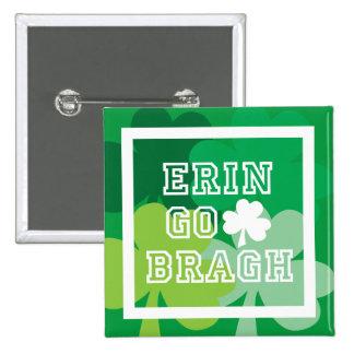 Erin Go Bragh 15 Cm Square Badge