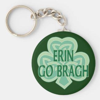 Erin Go Bragh Basic Round Button Key Ring