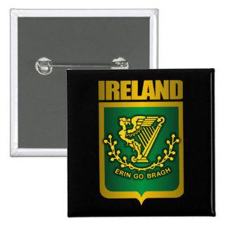"""Erin Go Bragh"" Gold 15 Cm Square Badge"