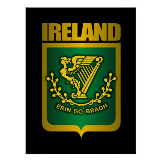 """Erin Go Bragh"" Gold Posters & Prints"