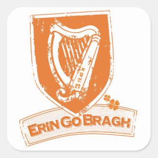 Erin Go Bragh (Harp Orange) Square Sticker