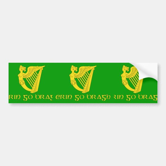 Erin Go Bragh, Ireland flag Bumper Sticker