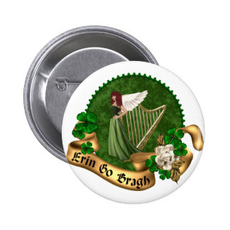 Erin Go Bragh Irish 6 Cm Round Badge
