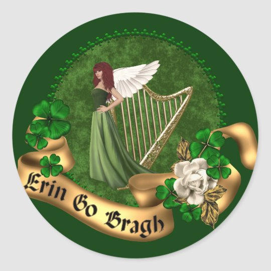 Erin Go Bragh Irish Classic Round Sticker