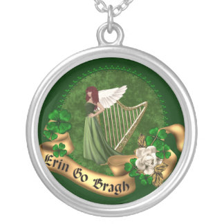 Erin Go Bragh Irish Silver Plated Necklace