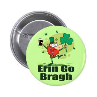 Erin Go Bragh Leprechaun with Stout 6 Cm Round Badge