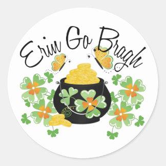 Erin Go Bragh Pot of Gold Sticker