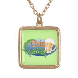 Erin Go Bragh (Ver 1) Gold Plated Necklace