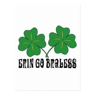 Erin Go Braless Postcard