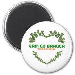 Erin Go Braugh Ireland Forever Refrigerator Magnet