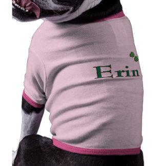 Erin Irish Name Dog T-shirt