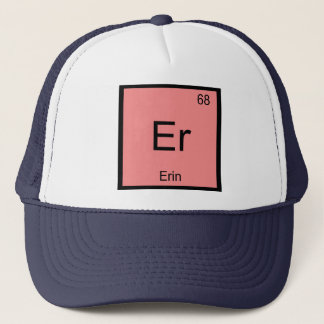 Erin Name Chemistry Element Periodic Table Trucker Hat