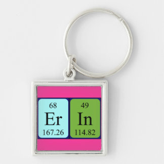 Erin periodic table name keyring keychains