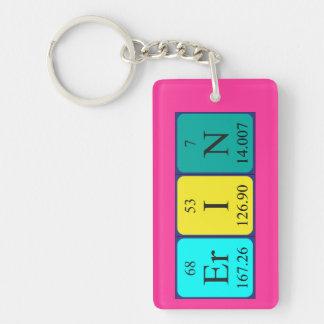 Erin periodic table name keyring Single-Sided rectangular acrylic key ring
