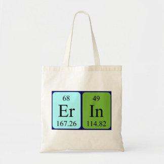 Erin periodic table name tote bag