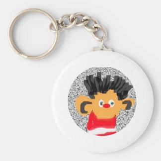Erine Basic Round Button Key Ring