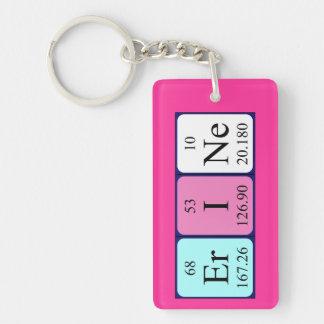 Erine periodic table name keyring Single-Sided rectangular acrylic key ring