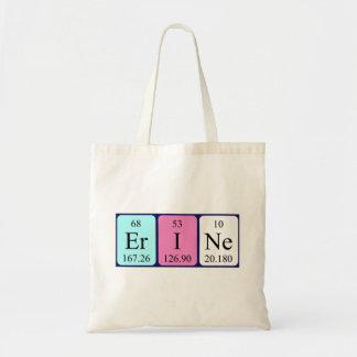 Erine periodic table name tote bag