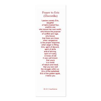 Eris (Discordia) Prayer Card Pack Of Skinny Business Cards