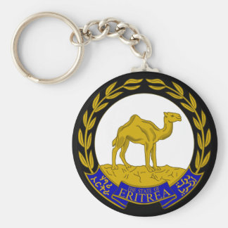 eritrea basic round button key ring