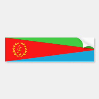 eritrea country flag nation symbol long bumper sticker