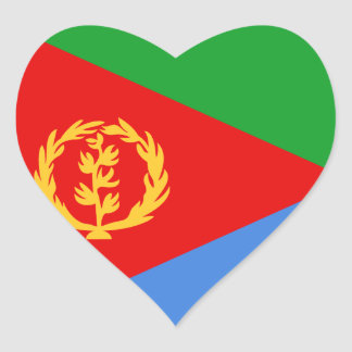 Eritrea Flag Heart Sticker