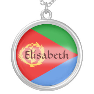 Eritrea Flag + Name Necklace