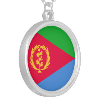 Eritrea Flag Silver Plated Necklace