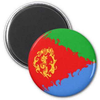 Eritrea Gnarly Flag 6 Cm Round Magnet