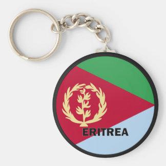 Eritrea Roundel quality Flag Basic Round Button Key Ring