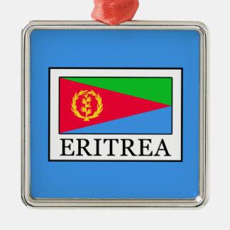 Eritrea Silver-Colored Square Decoration
