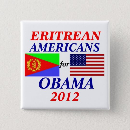 Eritrean americans for Obama 15 Cm Square Badge