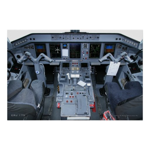 ERJ 175 Cockpit Poster
