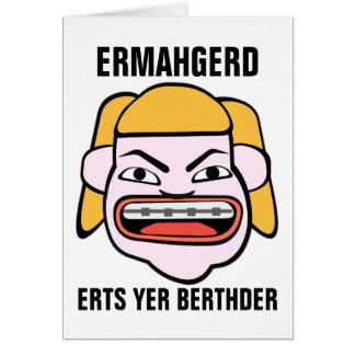 Ermahgerd Herper Berthder Card