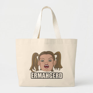 Ermahgerd Large Tote Bag