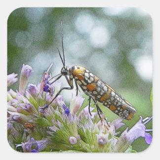 Ermine Moth on Agastache Sticker