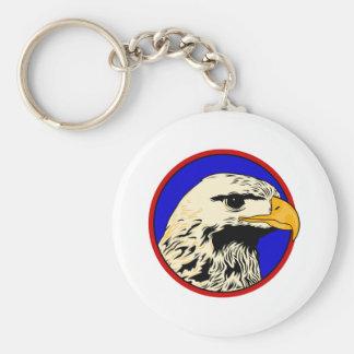 Ernest Eagle Basic Round Button Key Ring