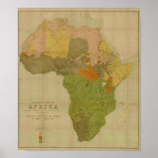Ernest George Ravenstein - Language Map of Africa