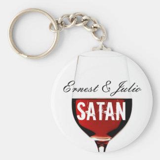 Ernest & Julio Satan Basic Round Button Key Ring