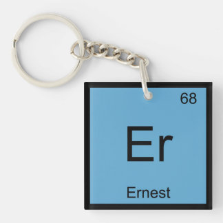 Ernest Name Chemistry Element Periodic Table Single-Sided Square Acrylic Key Ring