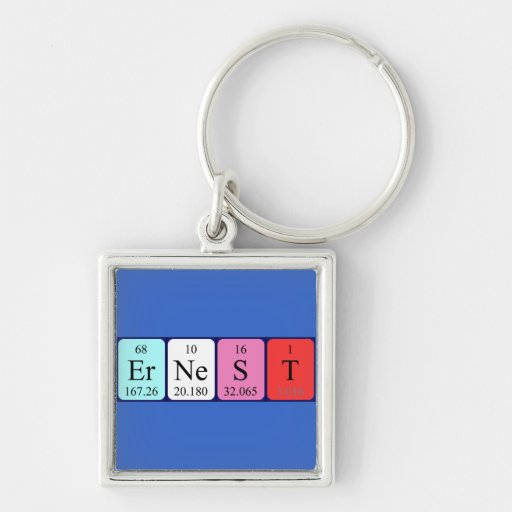Ernest periodic table name keyring key chain