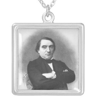 Ernest Renan after a photograph by Pierre Silver Plated Necklace