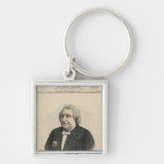 Ernest Renan Silver-Colored Square Key Ring