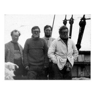 Ernest Shackleton and Crew Nimrod Antarctic Postcard