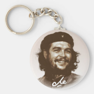 Ernesto Che Guevara Smile Basic Round Button Key Ring