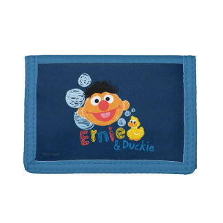 Ernie and Duckie Bubbles Trifold Wallets