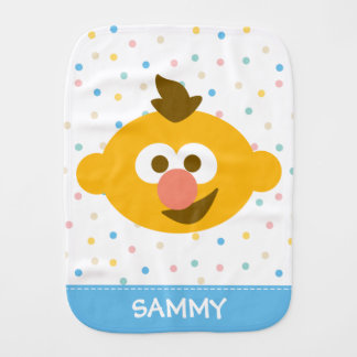 Ernie Baby Face   Add Your Name Burp Cloths