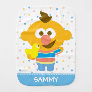 Ernie Baby Face and Duckie | Add Your Name Burp Cloth