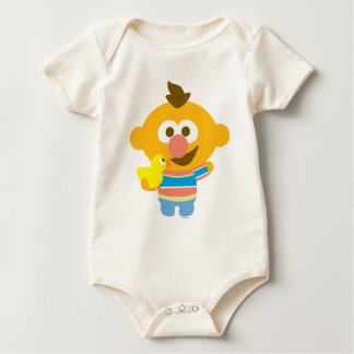 Ernie Baby Face and Duckie Baby Bodysuit