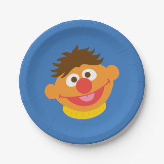 Ernie Face 7 Inch Paper Plate
